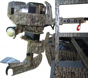 Timber camo outboard engine