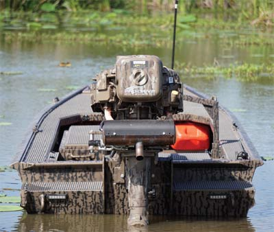 duck hunting outboard boat