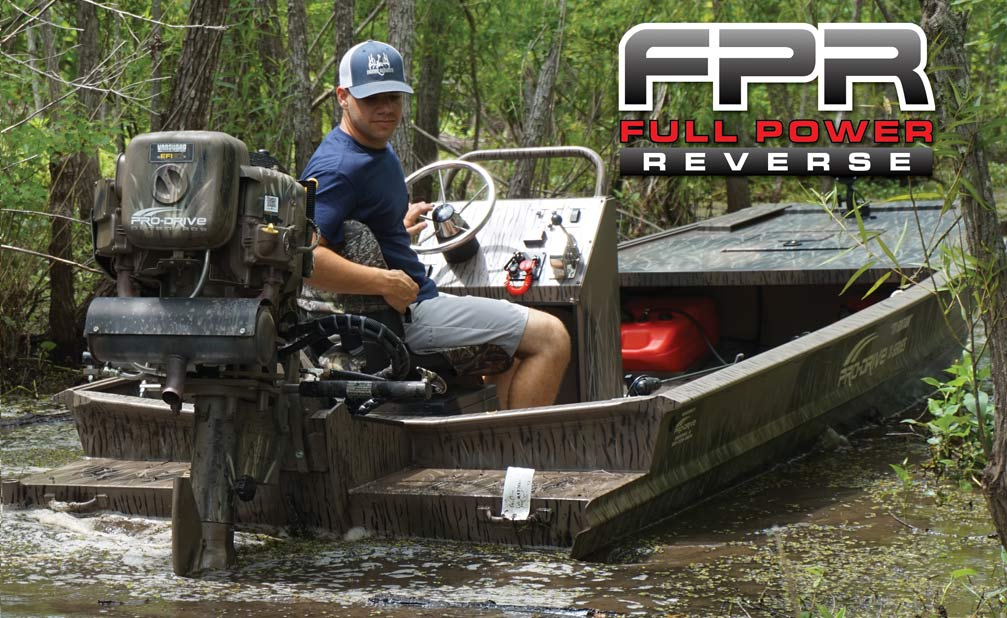 full power reverse mud motor outboard
