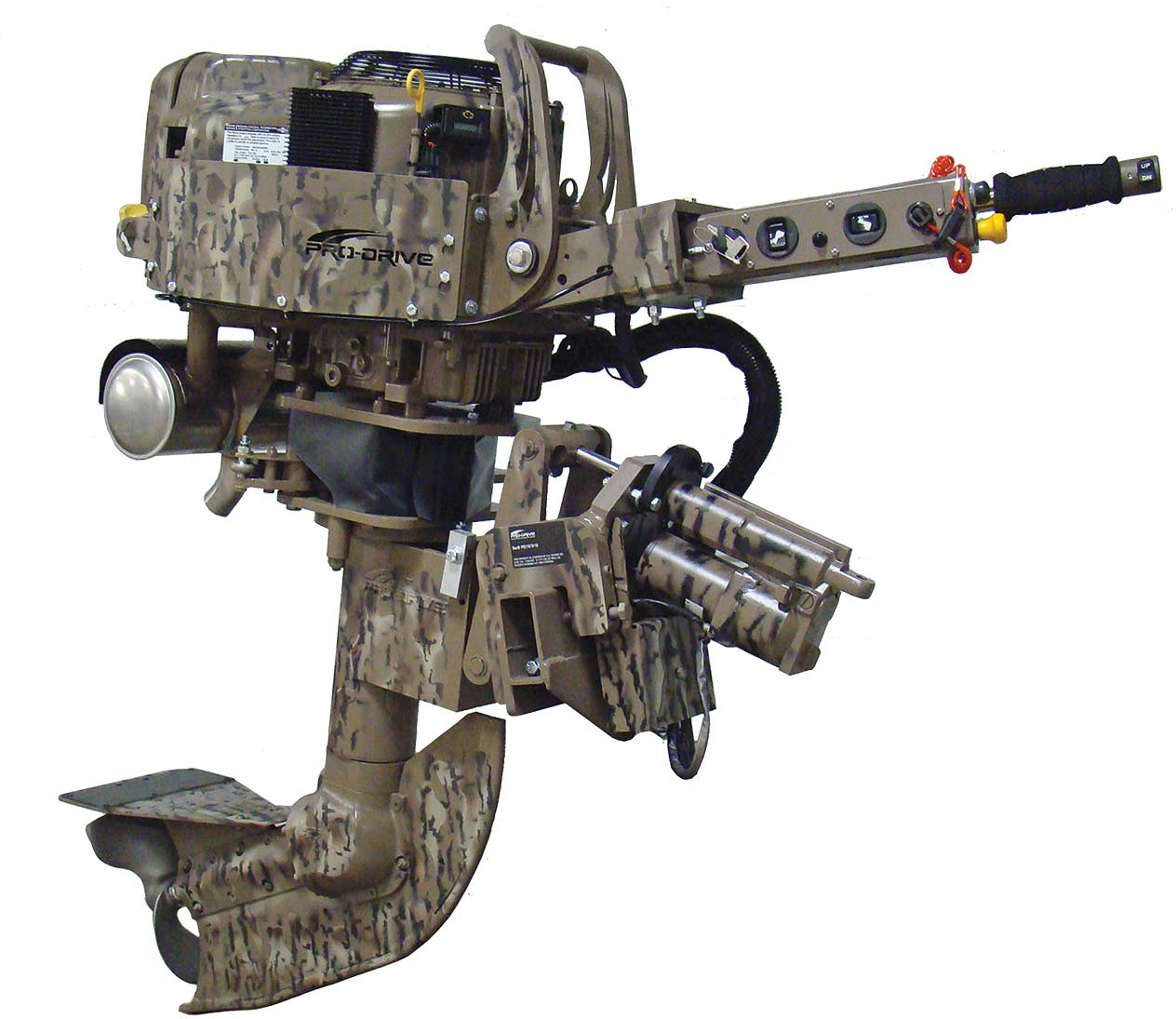 shallow water outboard for hunting and fishing