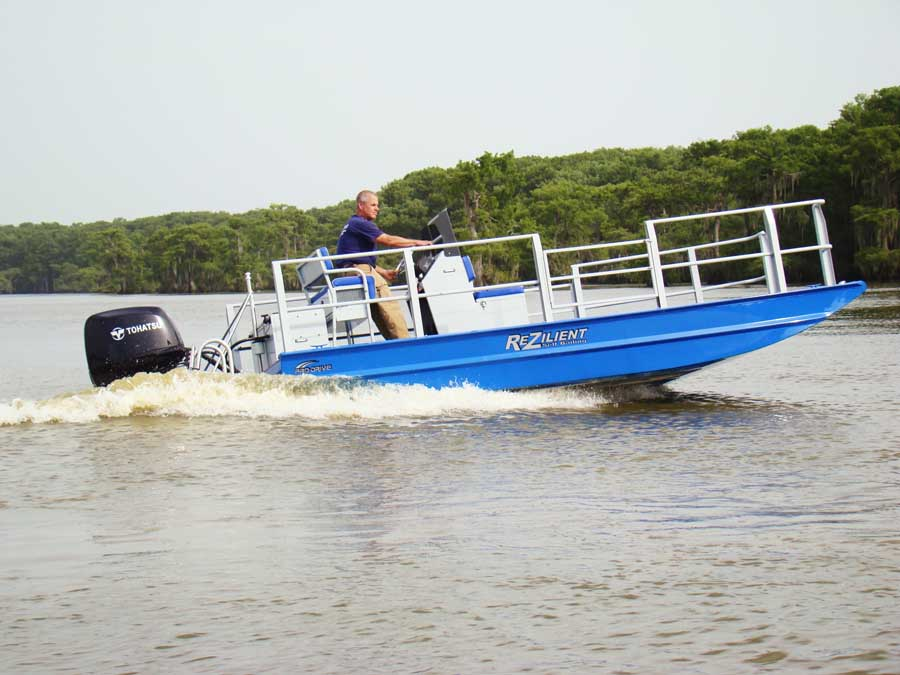Rezilient Self Bailing Boats - Pro-Drive Outboards